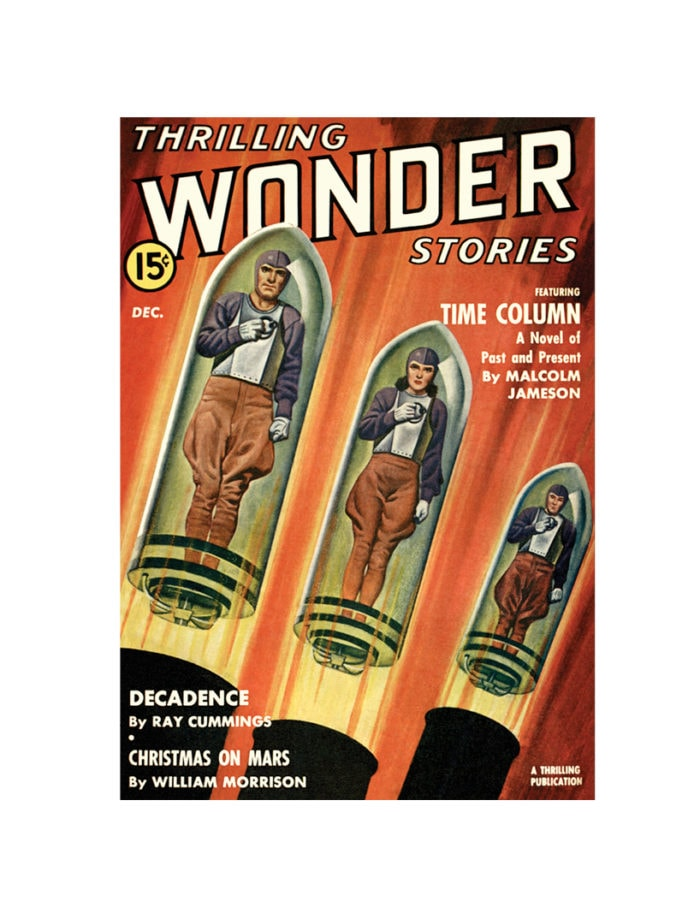 thrilling wonder stories Card December 1942 small